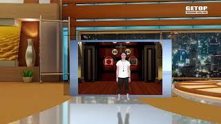 【免追蹤虛擬攝影棚】主播由外景進入虛擬場景技術示範