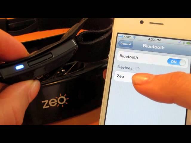 How to Pair Your Zeo Headband (iOS)