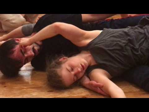 Sasha and Katya contact improvisation jam in Moscow