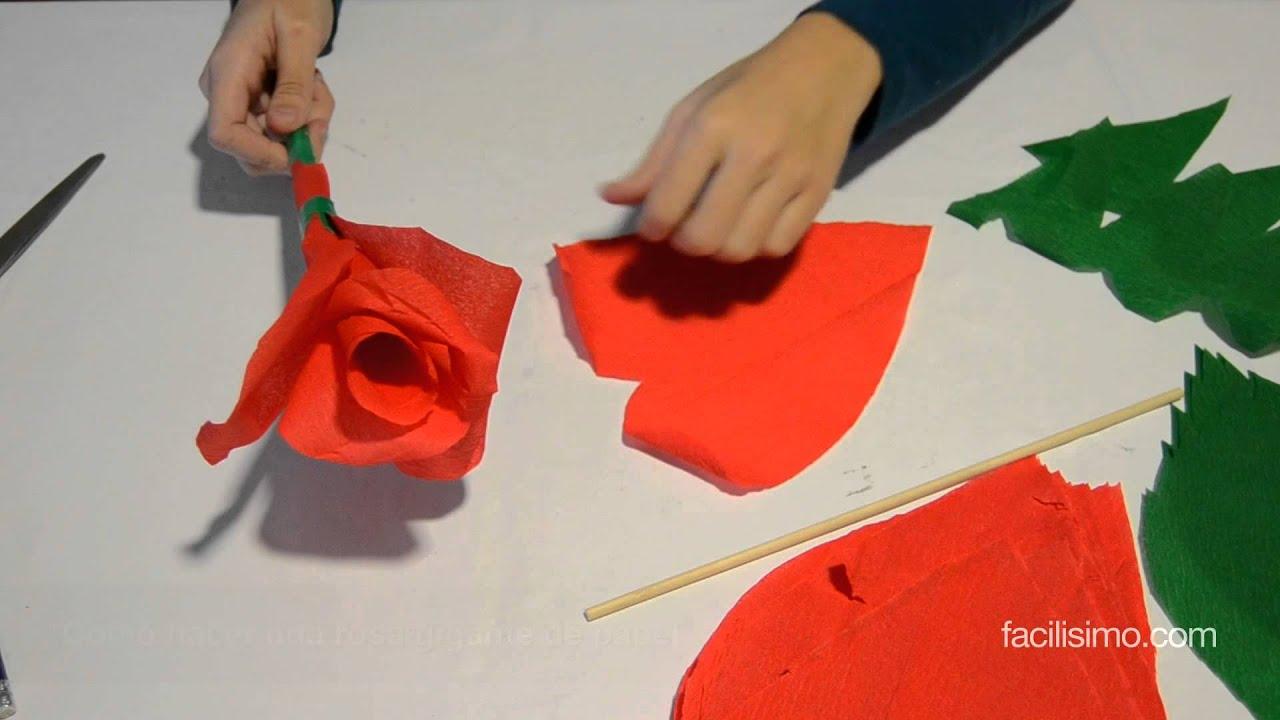 C mo hacer una rosa gigante de papel - Como secar una rosa ...