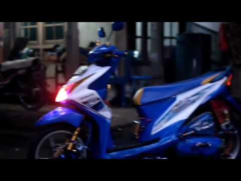 Modifikasi Beat Fi Biru Putih 101 Modif Honda Beat Fi