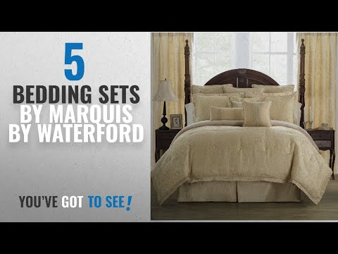 Top 10 Marquis By Waterford Bedding Sets [2018]: MARQUIS BY WATERFORD Isabella Comforter Set, Gold
