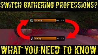 WoW Legion - Swapping Professions - How to Powerlvl Rank 2 Gathering