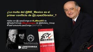 ¿La multa del @INE_Mexico es el primer conflicto de @LopezObrador_?