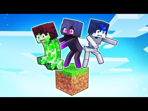 Playing As MOBS On ONE BLOCK In Minecraft! - Aphmau