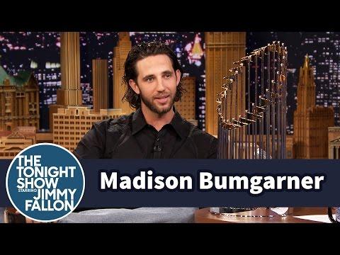 """Madison Bumgarner Gives Jimmy a """"MadBum"""" Gift"""