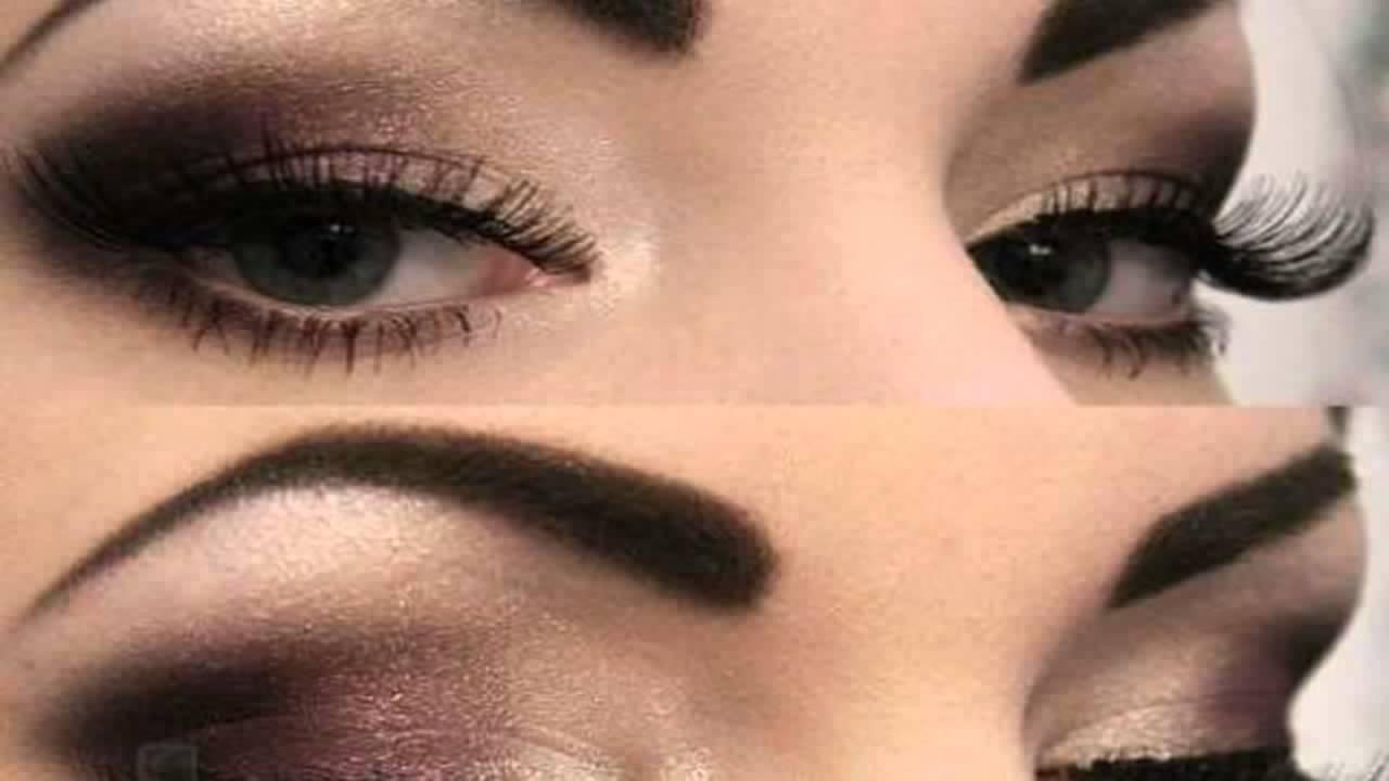 maquillaje de ojos ahumado en negro brillante smokey eyes