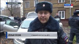 Погоня в центре города: костромские полицейские задержали неадекватного лихача на иномарке