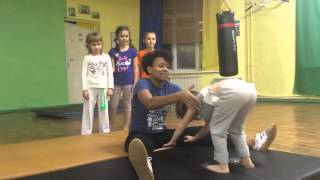Занятия по капоэйре. Дети 4-6 лет. Kids capoeira classes 4-6 years. Trainer Alina