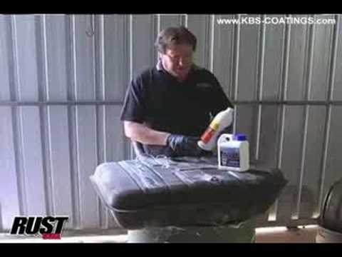 KBS Coatings - Using RustSeal To Paint A Gas Tank - Part 1 Of 2