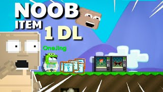 BUYING NOOB ITEM FOR 1DL !! | Growtopia Funny Prank