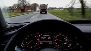 Audi A6 2.0 TFSI C7 (180 PS) Testing ACC & Lane Assist | Some overtaking