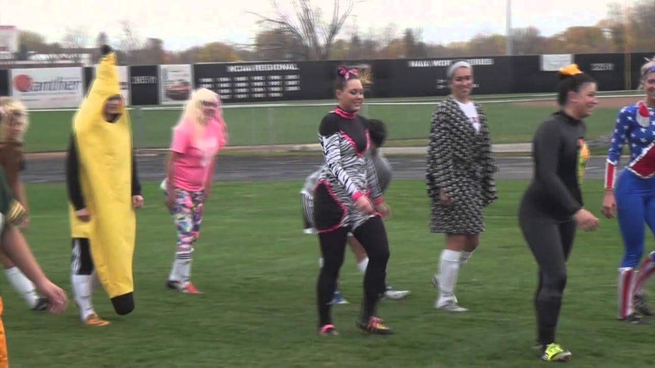 Soccer Halloween Practice In Costumes