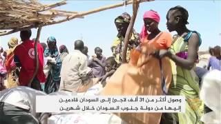 زيادة أعداد لاجئي دولة جنوب السودان