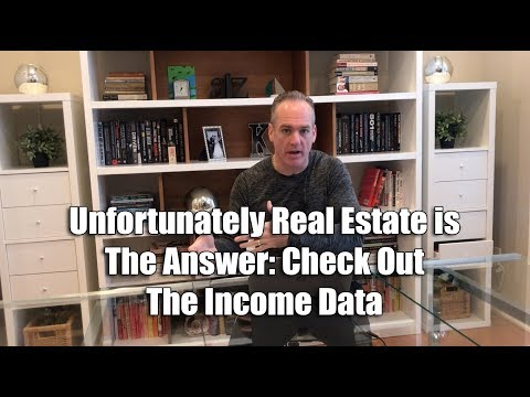 Unfortunately Real Estate is The Answer: Check Out The Income Data