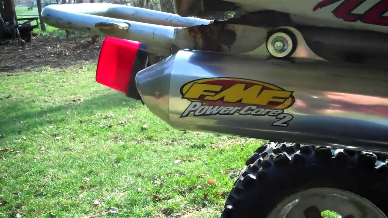 2002 yamaha blaster fmf exhaust youtube