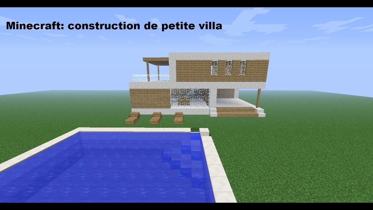 Minecraft construction de petite villa youtube for Petite villa moderne