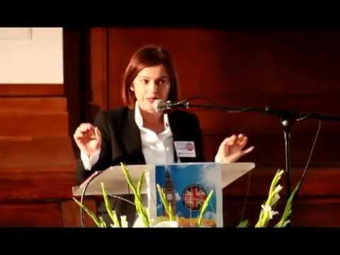 Maria Gomes at the 2nd British Spiritism Congress