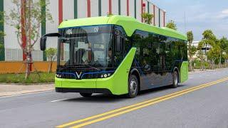 Xe Buýt điện VinFast lăn bánh trên đường thử, đợi ngày ra mắt chính thức