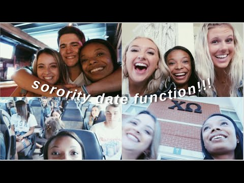 COLLEGE VLOG: Sorority Date Party!