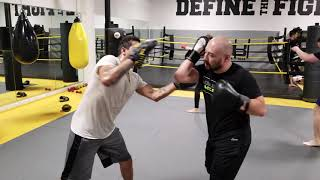 Focus mitt drills at MMA Lab