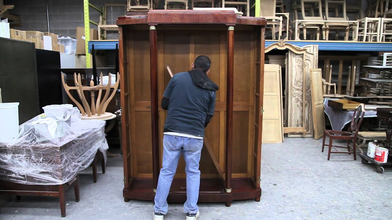How To Assemble An Antique Armoire  Youtube