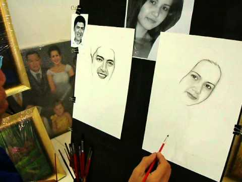 Left & right handed artist make a charcoal portrait for Vic sotto ,Quezon city  Philippines.(part 5)