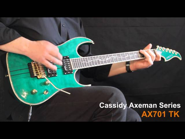 Cassidy Axeman Series AX701 at the MusicRadar Guitars and Amps Expo 2014