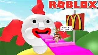 ESCAPE GIANT MCDONALDS CLOWN OBBY | The Weird Side of Roblox