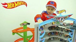 Машинки Хот Вилс и Треки Все серии подряд - Видео для детей про Машинки Гонки Гаражи Паркинги Трассы