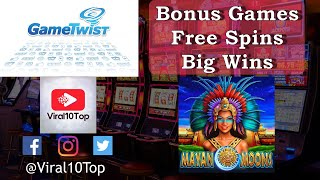 GameTwist S1 Ep2, Mayan Moons 4 x Bonus Games, 15 free spins each, different bet! BIG Wins!