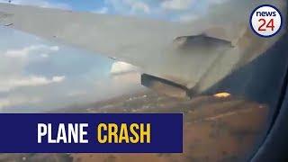 شاهد.. لحظة تحطم طائرة عقب دقائق من إقلاعها في جنوب أفريقيا