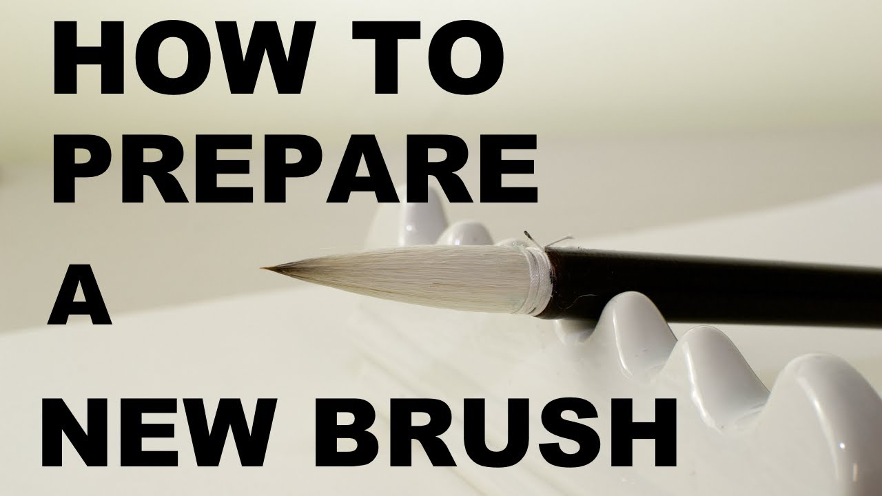 How to Prepare a New Brush: Japanese Calligraphy Tutorials for Beginners