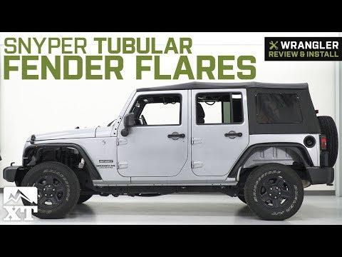 Jeep Wrangler JK Snyper Tubular Fender Flares - Textured Black (2007-2018) Review & Install