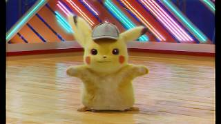 Detective Pikachu dancing but with no music