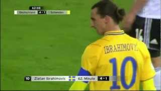 Germany - Sweden 4-4, all goals. WC Qualifying Oct 16 2012 (Swedish Commentary, Lasse Granqvist).