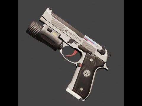 Killing Floor 2 In Game Weapon Skin Showcase (9MM | Airlock | Mint)    YouTube