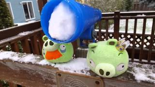 Angry Birds Space Plush Cold Cuts Adventure part 2 (30 K sub video)