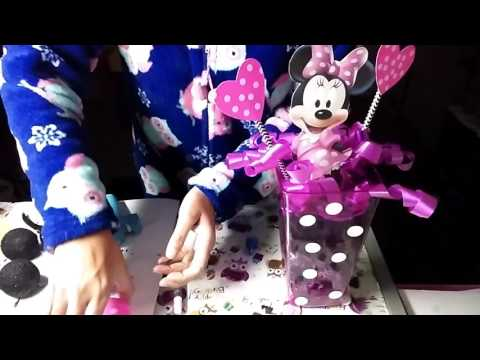 SIMPLE Minnie Mouse 🐭 centerpieces DIY using Dollar Tree items(haul)