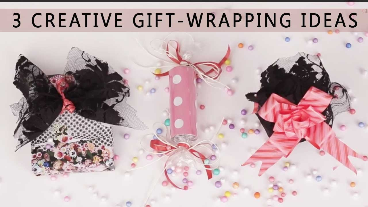 Cute Gift-Wrapping On A Budget 3 IdeasYouTube