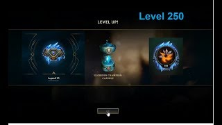 Level 250 glorious capsule opening + level 5 honor capsules + odyssey orb (LEAGUE OF LEGENDS)