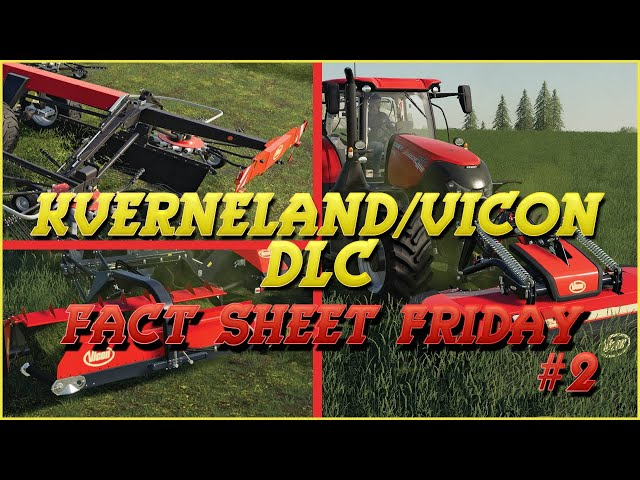 Kverneland & Vicon DLC: Fact Sheet Friday #2 | Farming Simulator 19