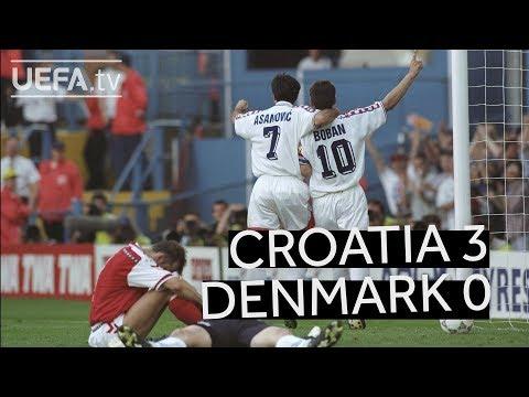 ICONIC ŠUKER CHIP Seals CROATIA Win Over DENMARK At EURO96