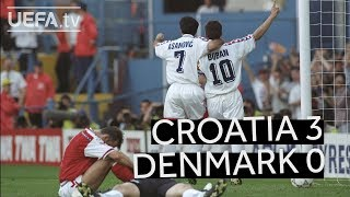 ICONIC ŠUKER CHIP seals CROATIA win over DENMARK at EURO96