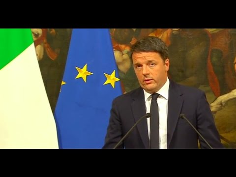BREAKING NEWS - Italian people said NO - PM Matteo Renzi resigns