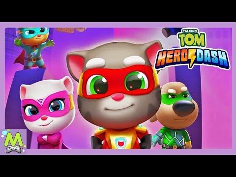 Говорящий Том Погоня Героев.Новая Игра с Супергероями Тома и Друзей.Спасение Анджелы