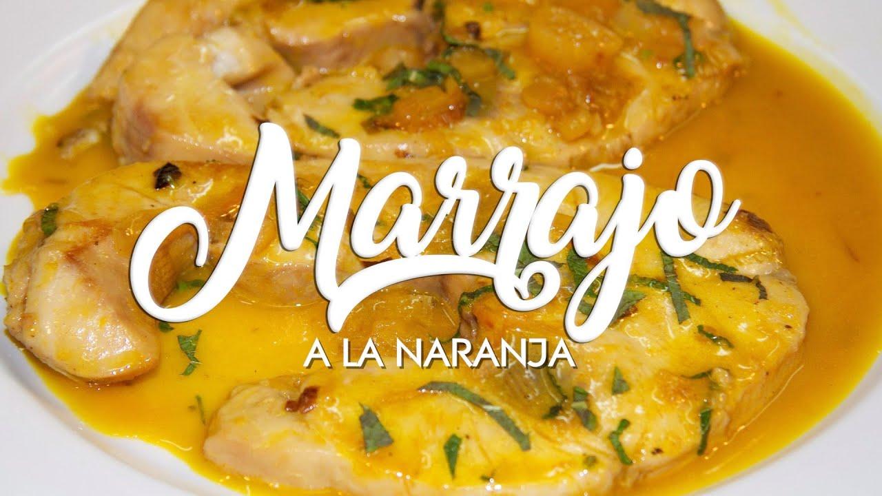 ✅ Receta de MARRAJO a la naranja 🍊 Receta de Filete de pescado en salsa 👍