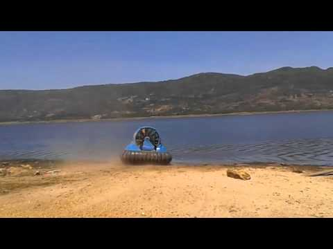 Hov Pod Hovercraft on Lake at Altitude