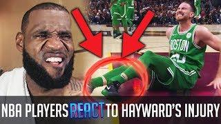 Video NBA Players REACT To Gordon Hayward BREAKING HIS LEG! download MP3, 3GP, MP4, WEBM, AVI, FLV November 2017