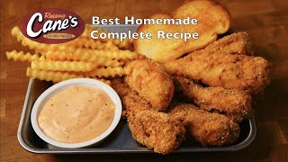 Raising Cane's Chicken Tenḋers : Best Homemade Complete Recipe by Essence Cuisine